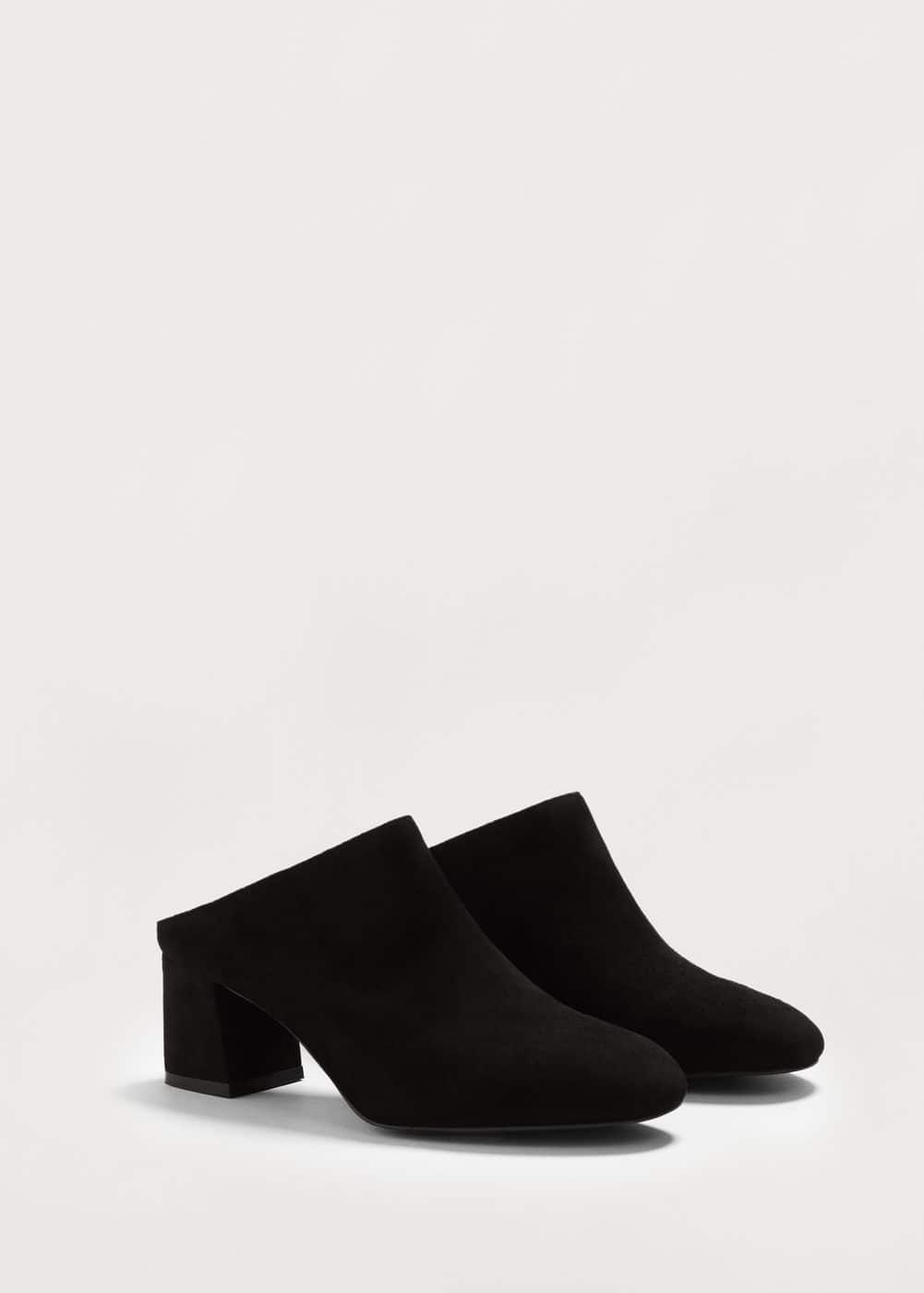 Leather heel mules | MANGO