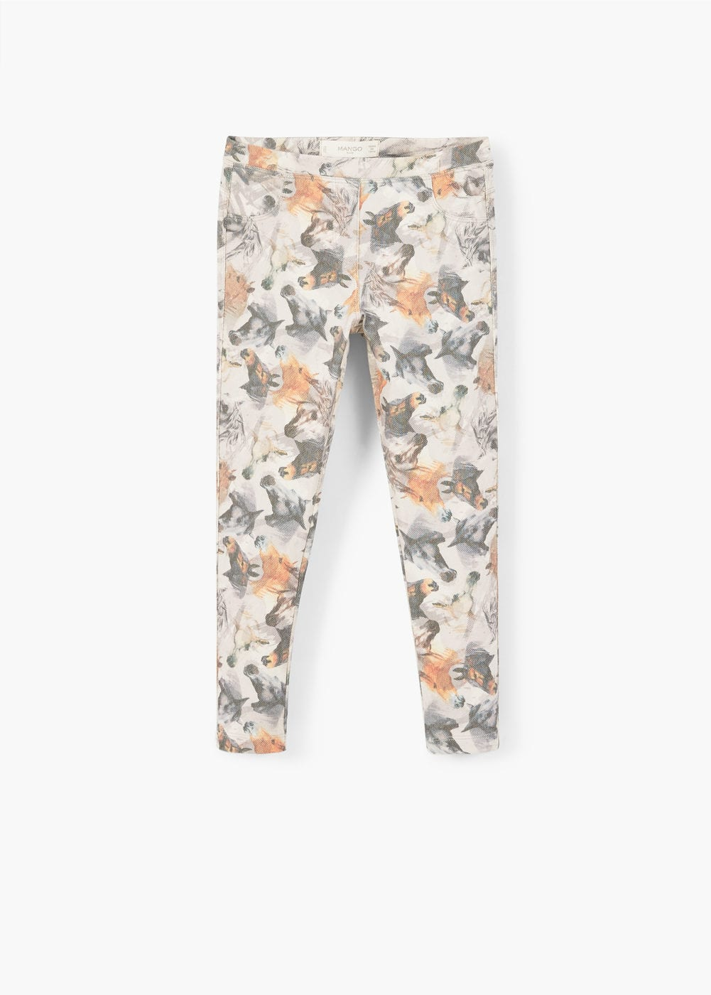 Printed cotton leggings | MANGO KIDS