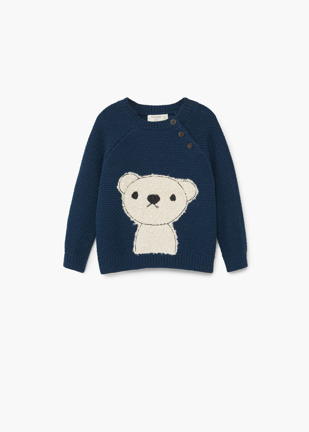 Pull-over maille ourson | MANGO