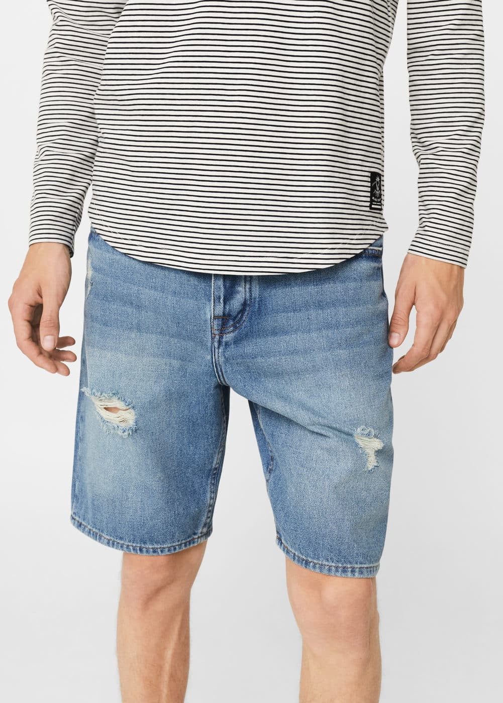 Bermudas denim claro rotos | MNG