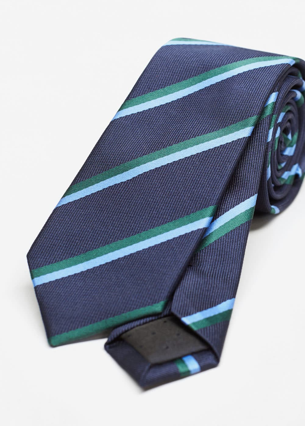 Striped tie | MANGO