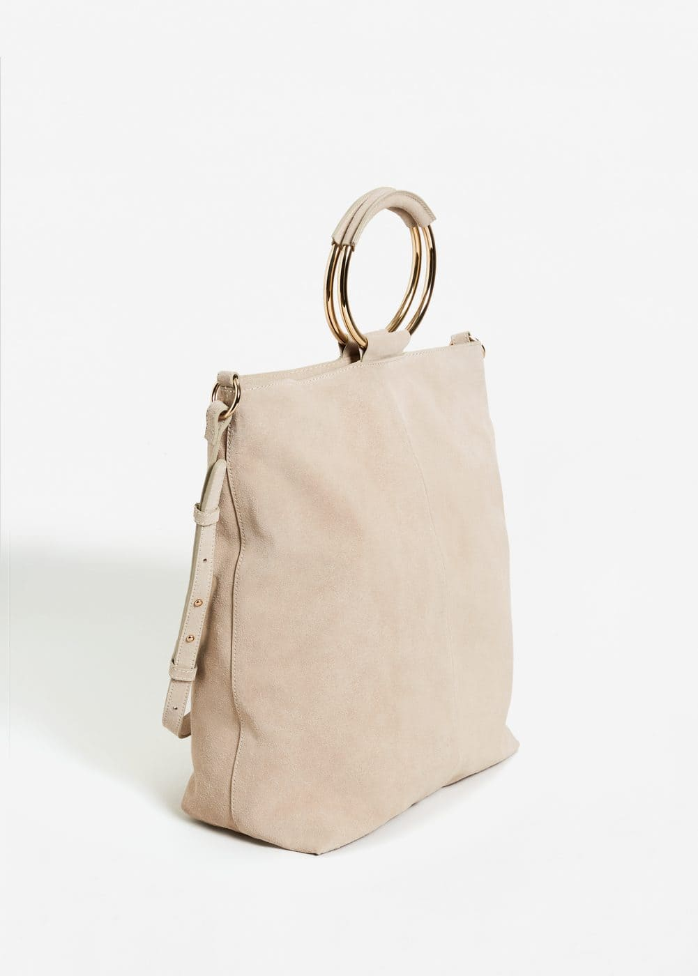 Leather hobo bag | MANGO