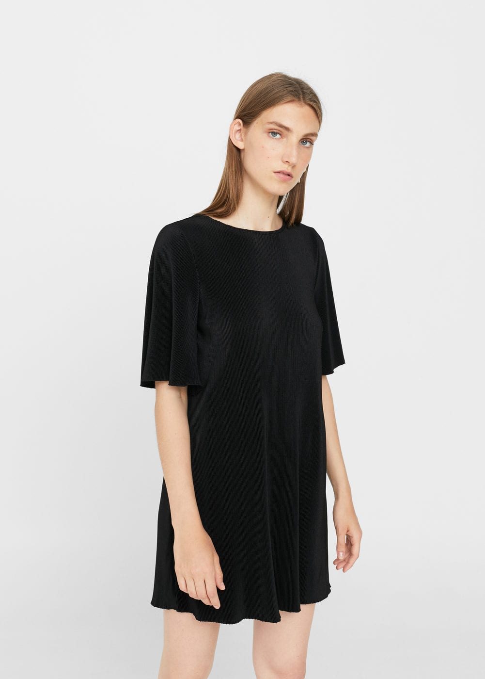 Textured flowy dress | MANGO