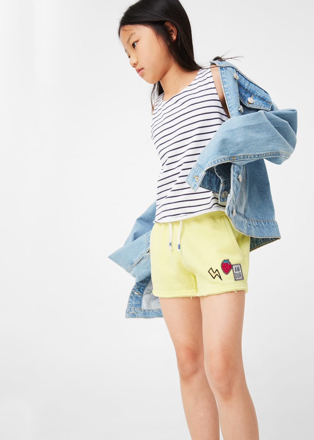 Patched jogging short | MANGO