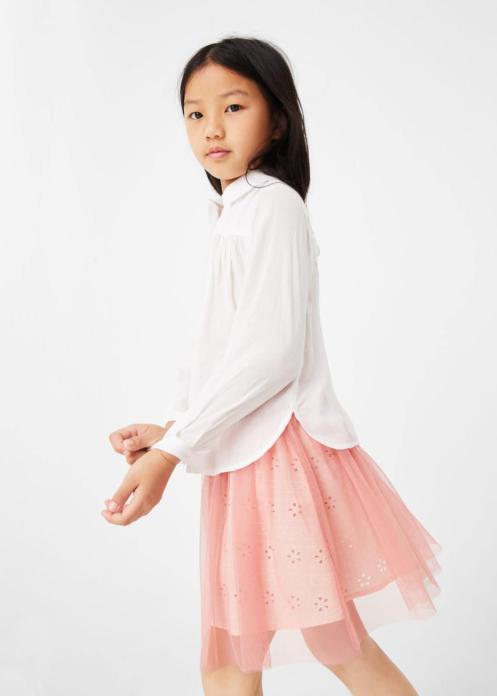 Contrasting design skirt | MANGO KIDS