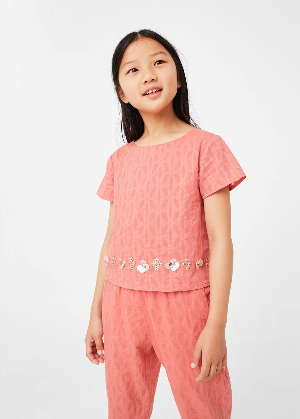 Textured long jumpsuit | MANGO KIDS