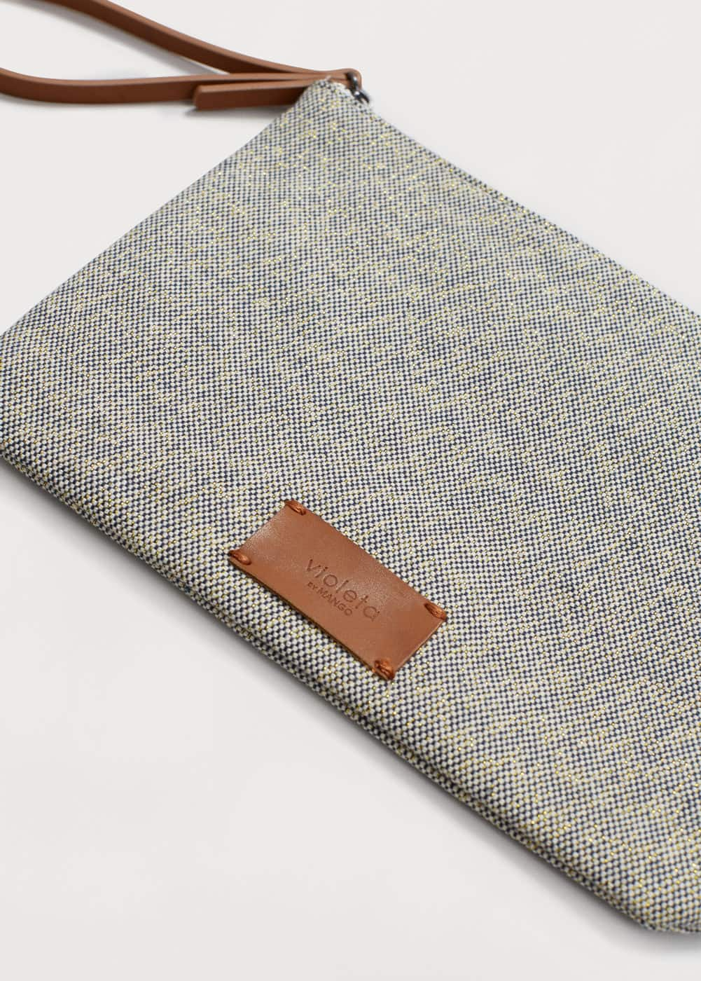 Textured cotton cosmetic bag | MANGO