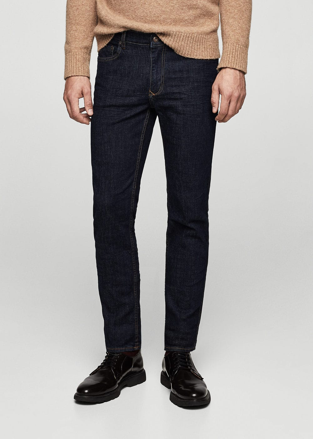 Slim-fit dark tim jeans | MANGO