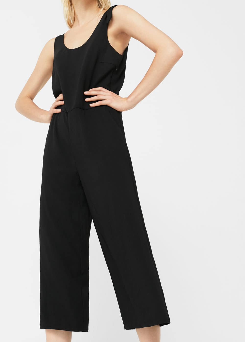Shoulder detail jumpsuit | MANGO