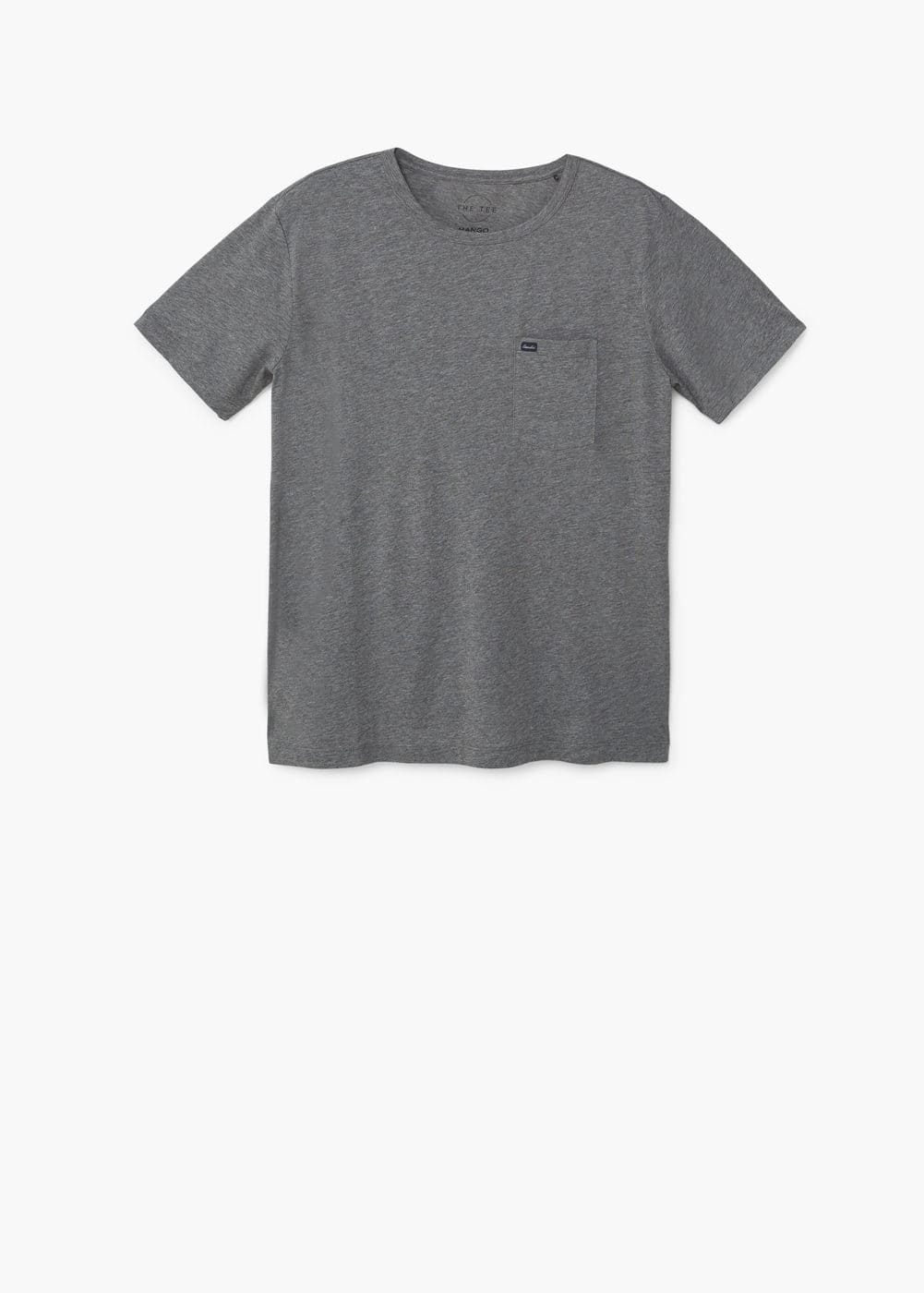 Pocket cotton t-shirt | MANGO MAN
