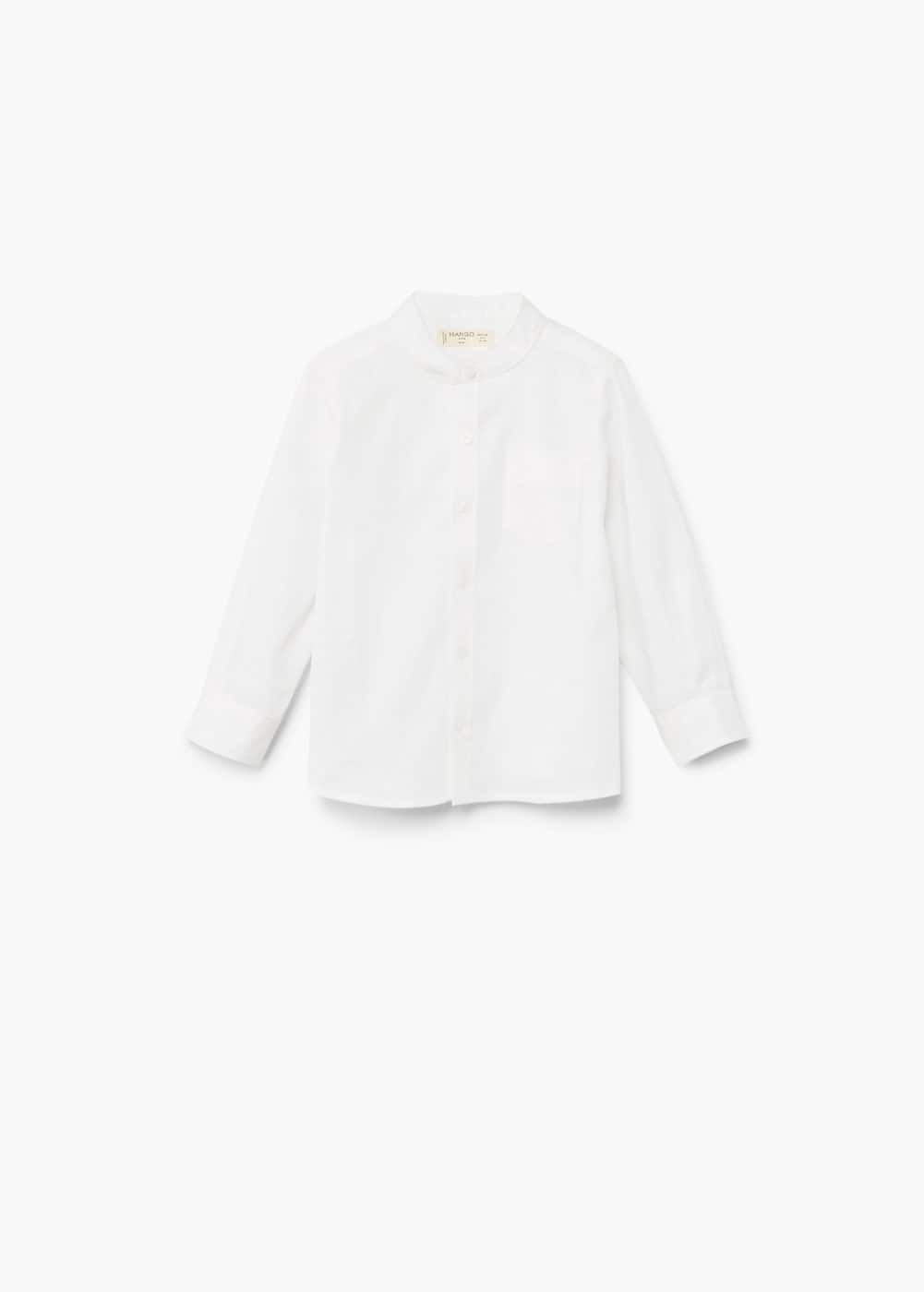 Textured cotton shirt | MANGO