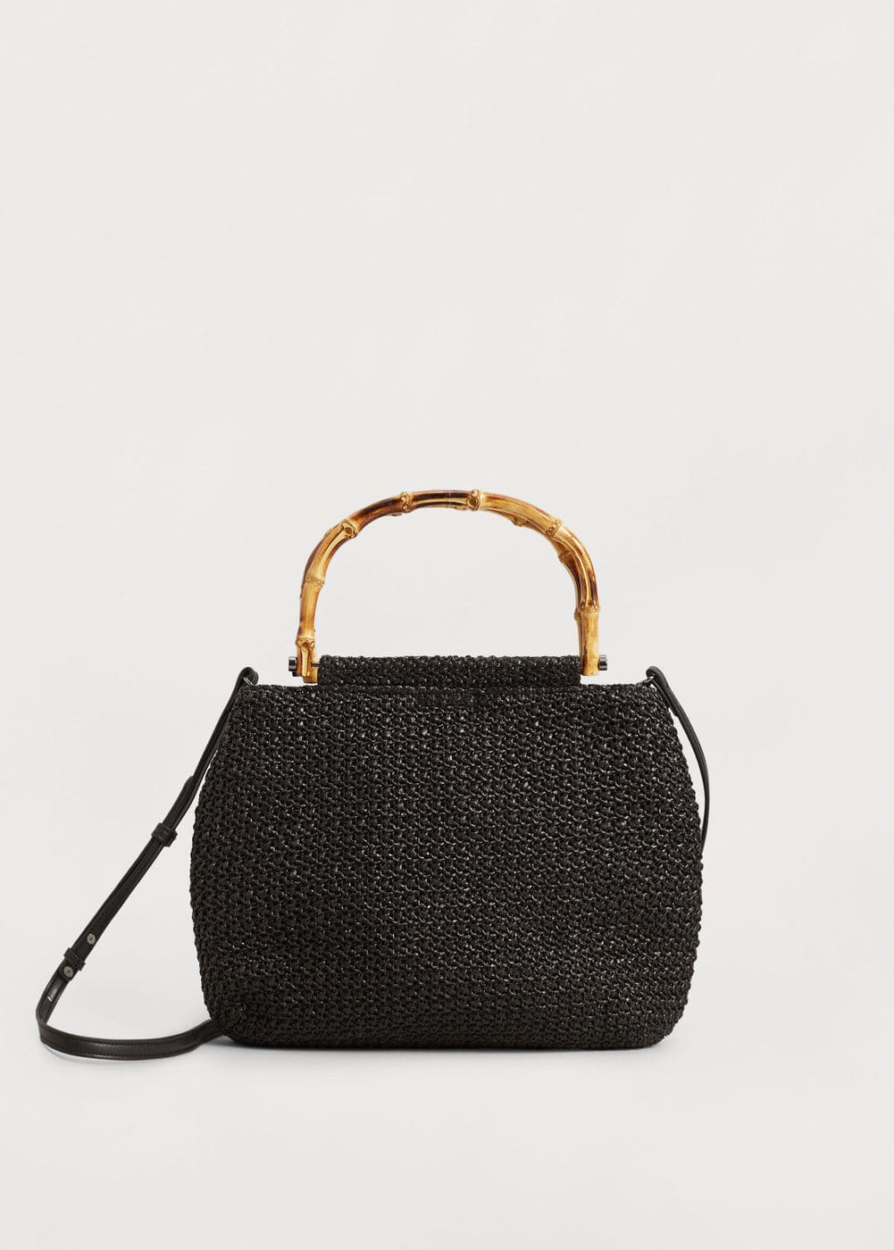 Bamboo handle bag | MANGO
