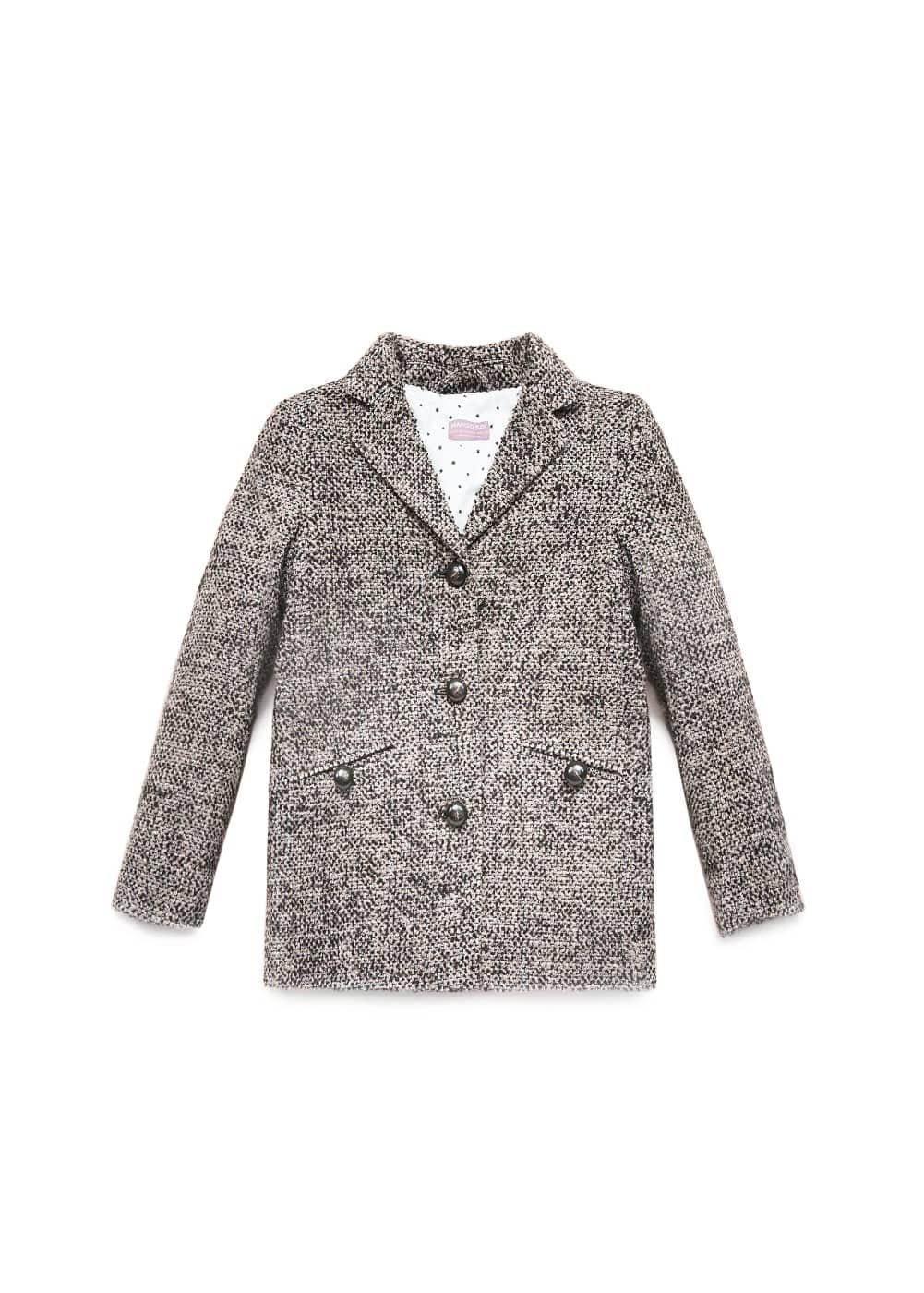 Bouclé coat | MANGO KIDS