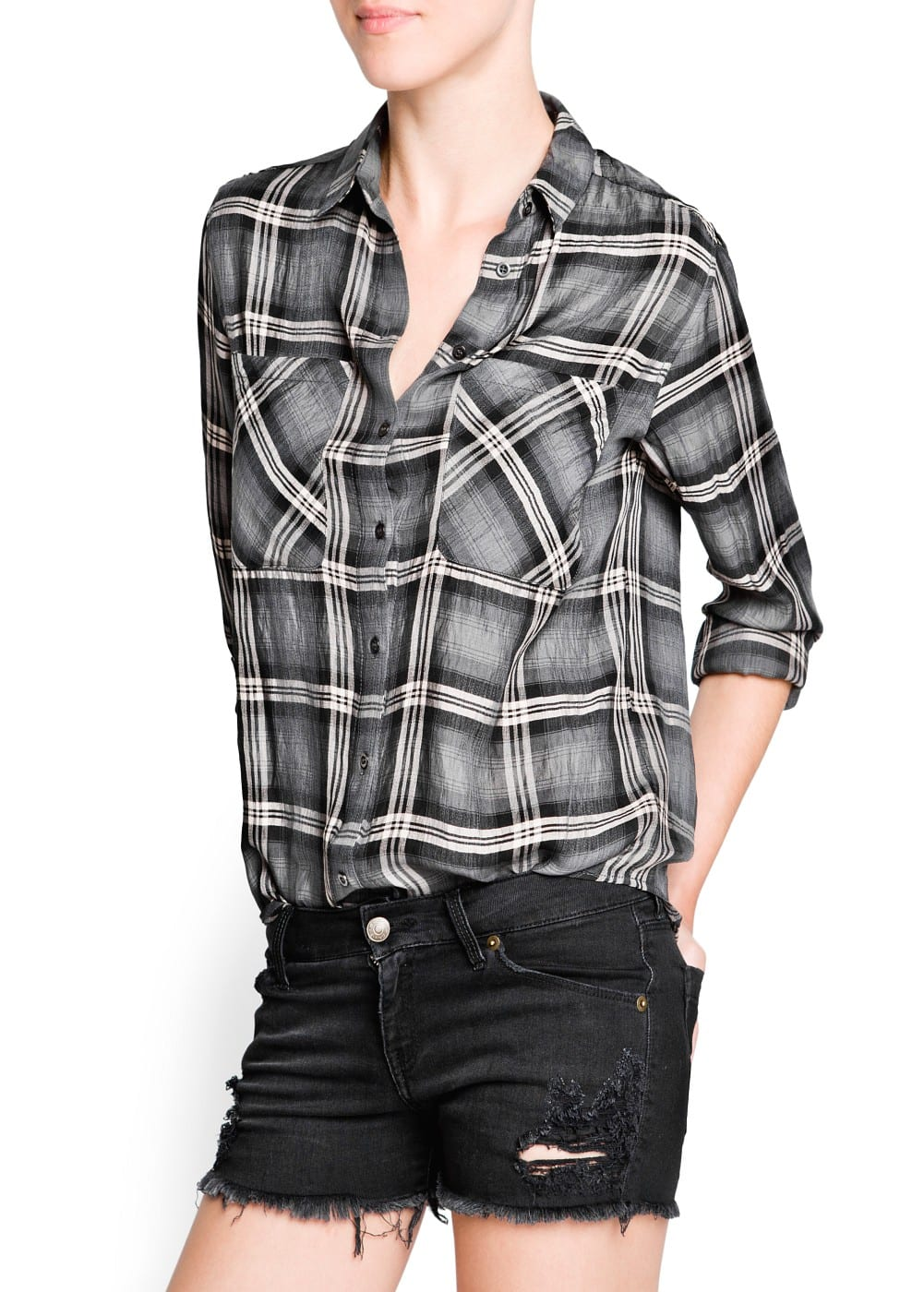 Lightweight check shirt | MANGO