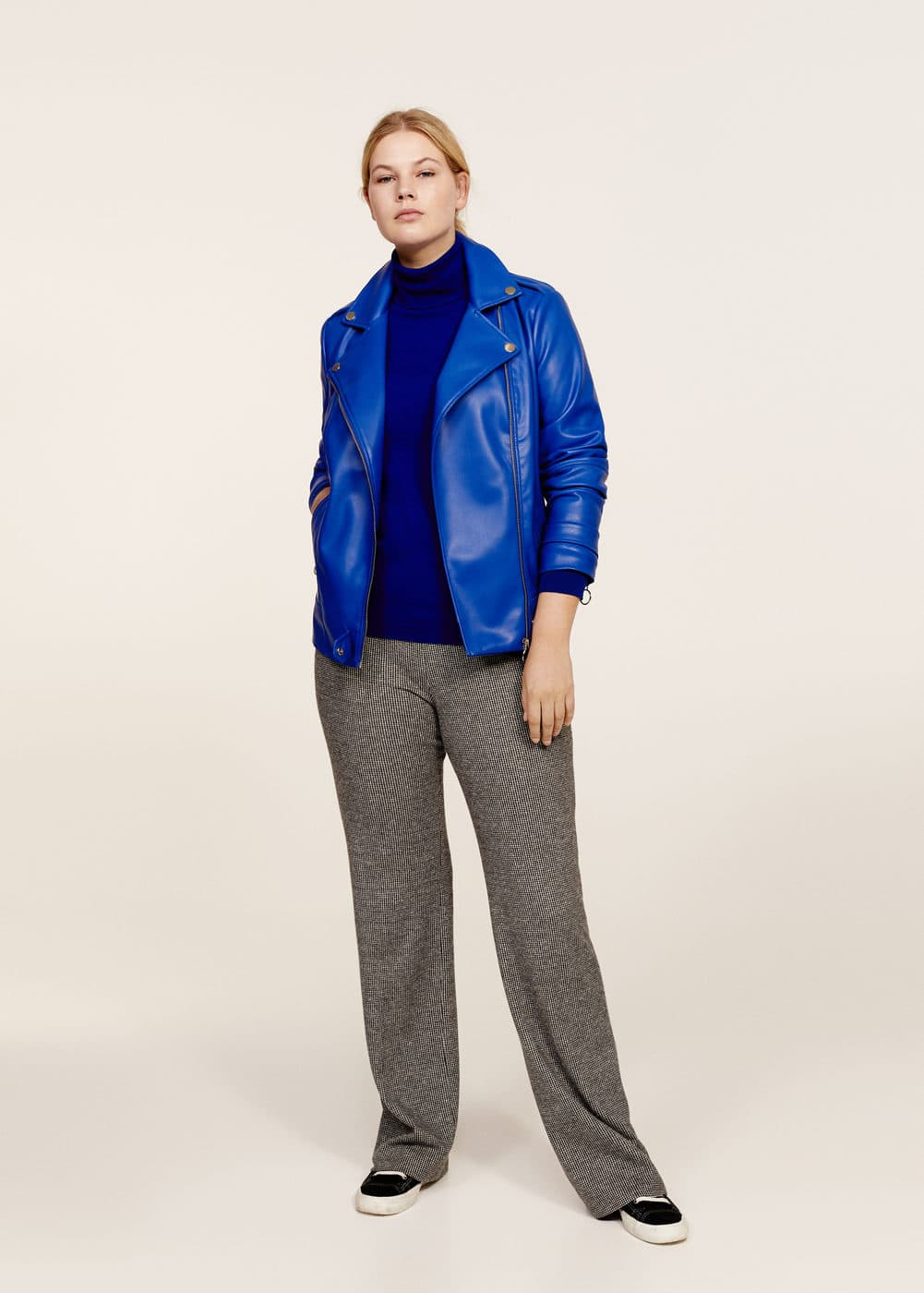 Zipped biker jacket | VIOLETA BY MANGO