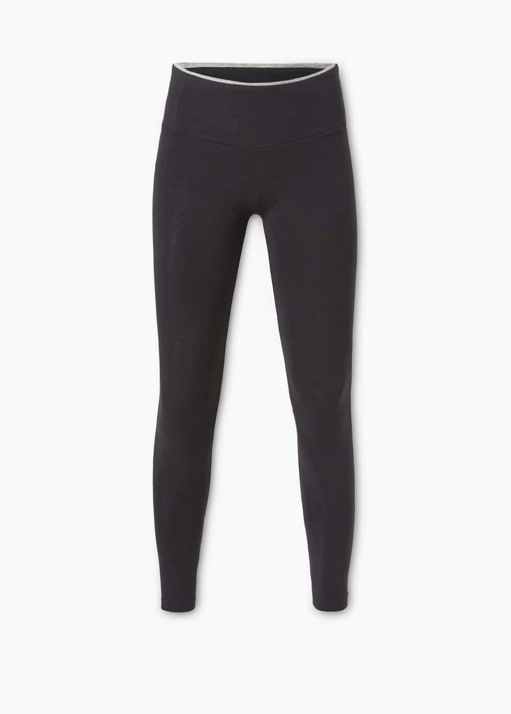High waist cotton leggings | MANGO