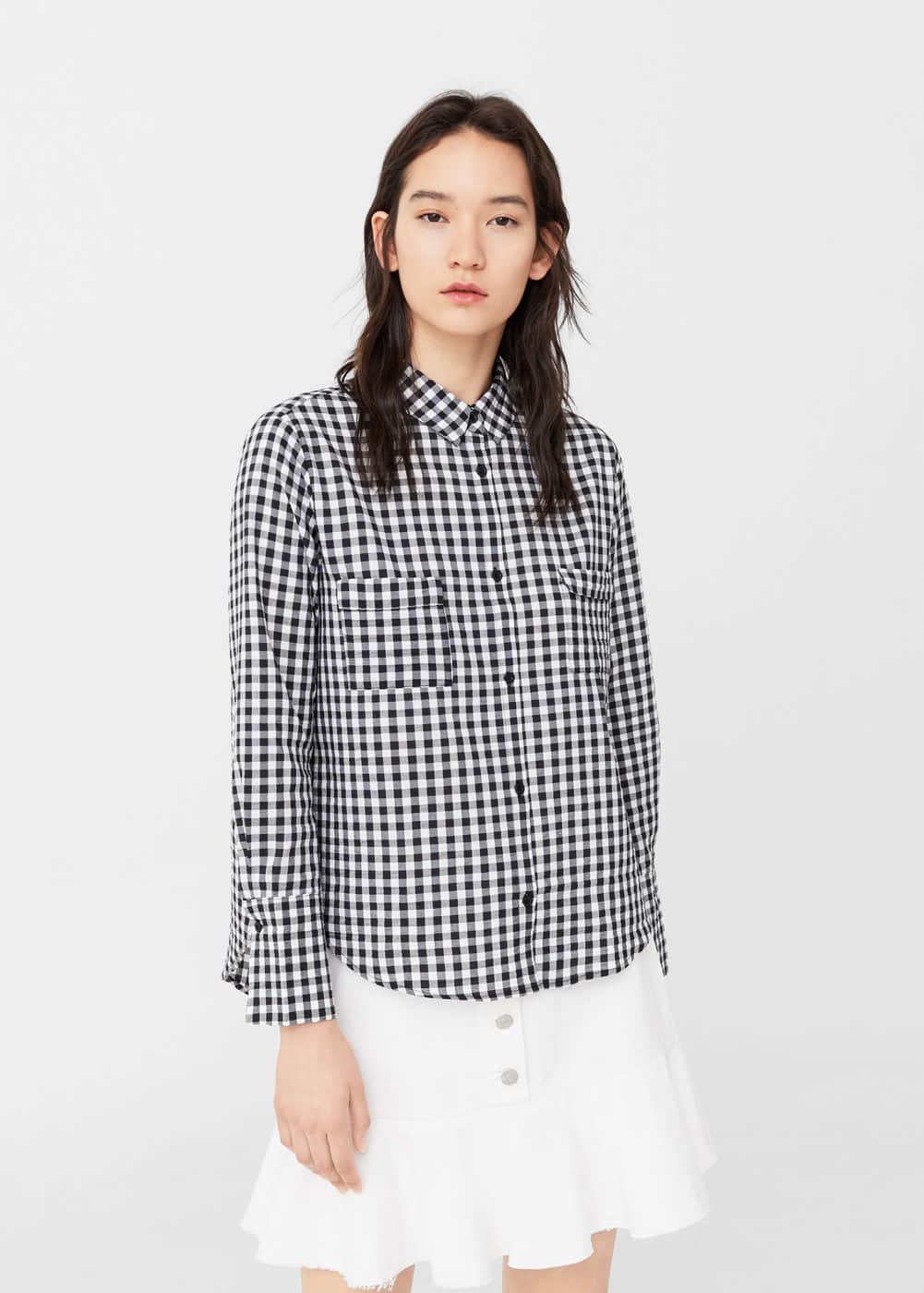 Gingham check shirt | MANGO