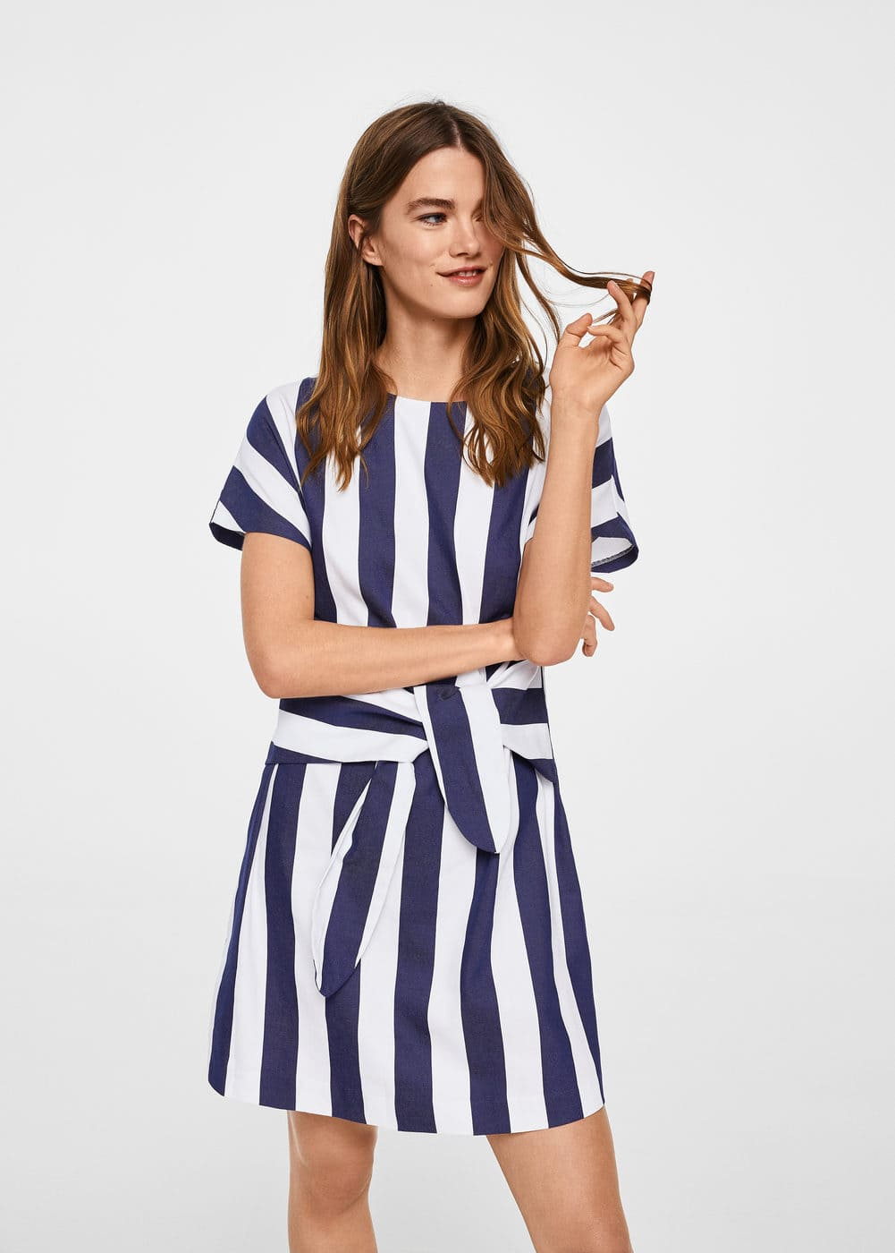 Knot striped dress | MANGO