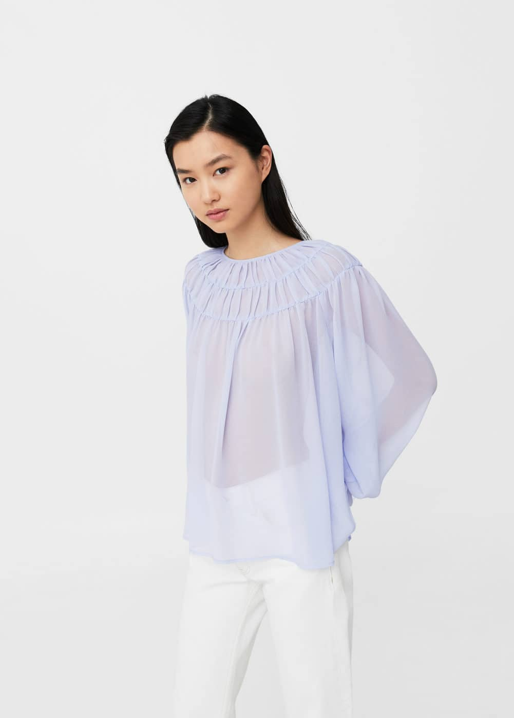Ruched flowing blouse | MANGO