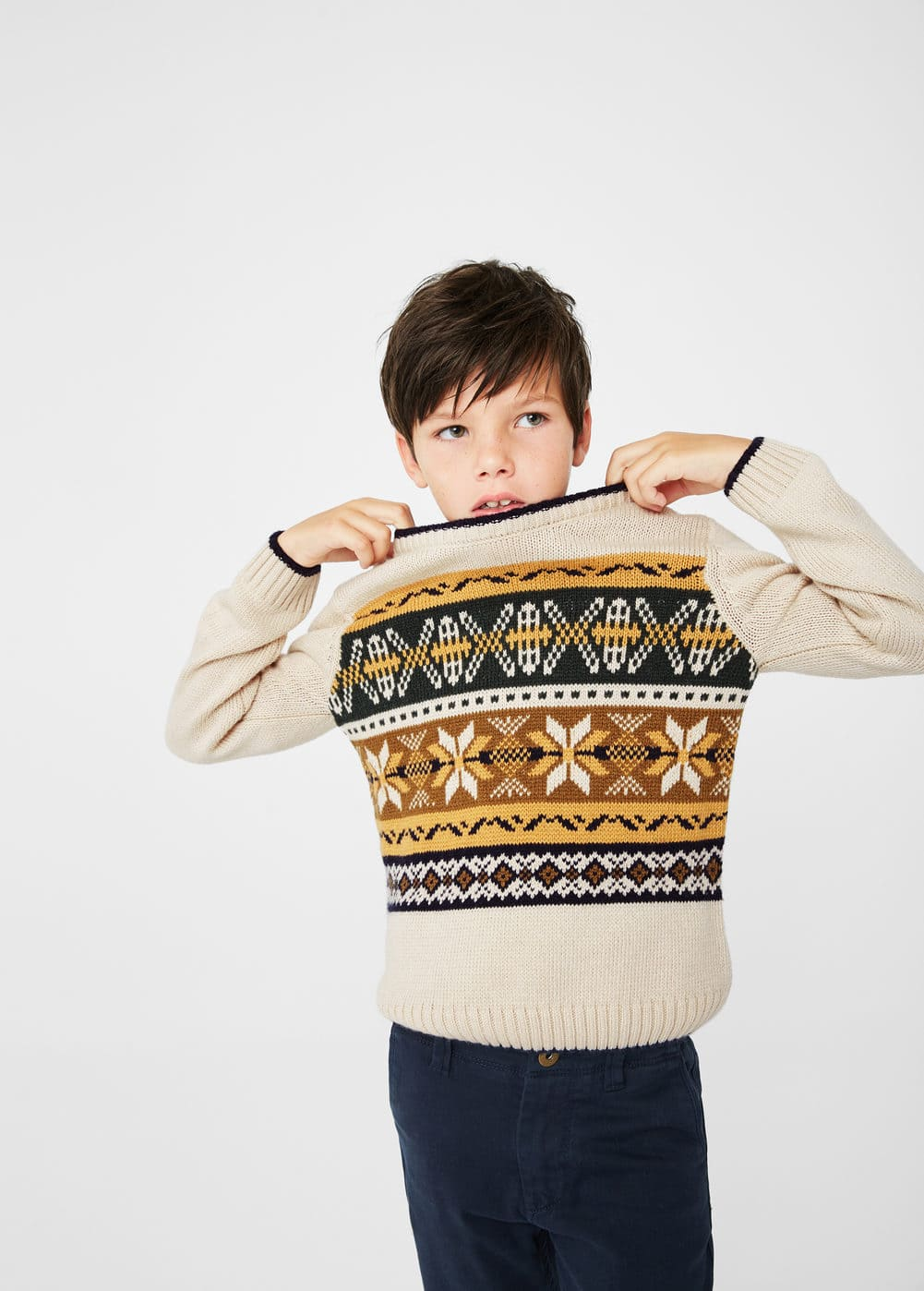Knitted pattern sweater | MANGO