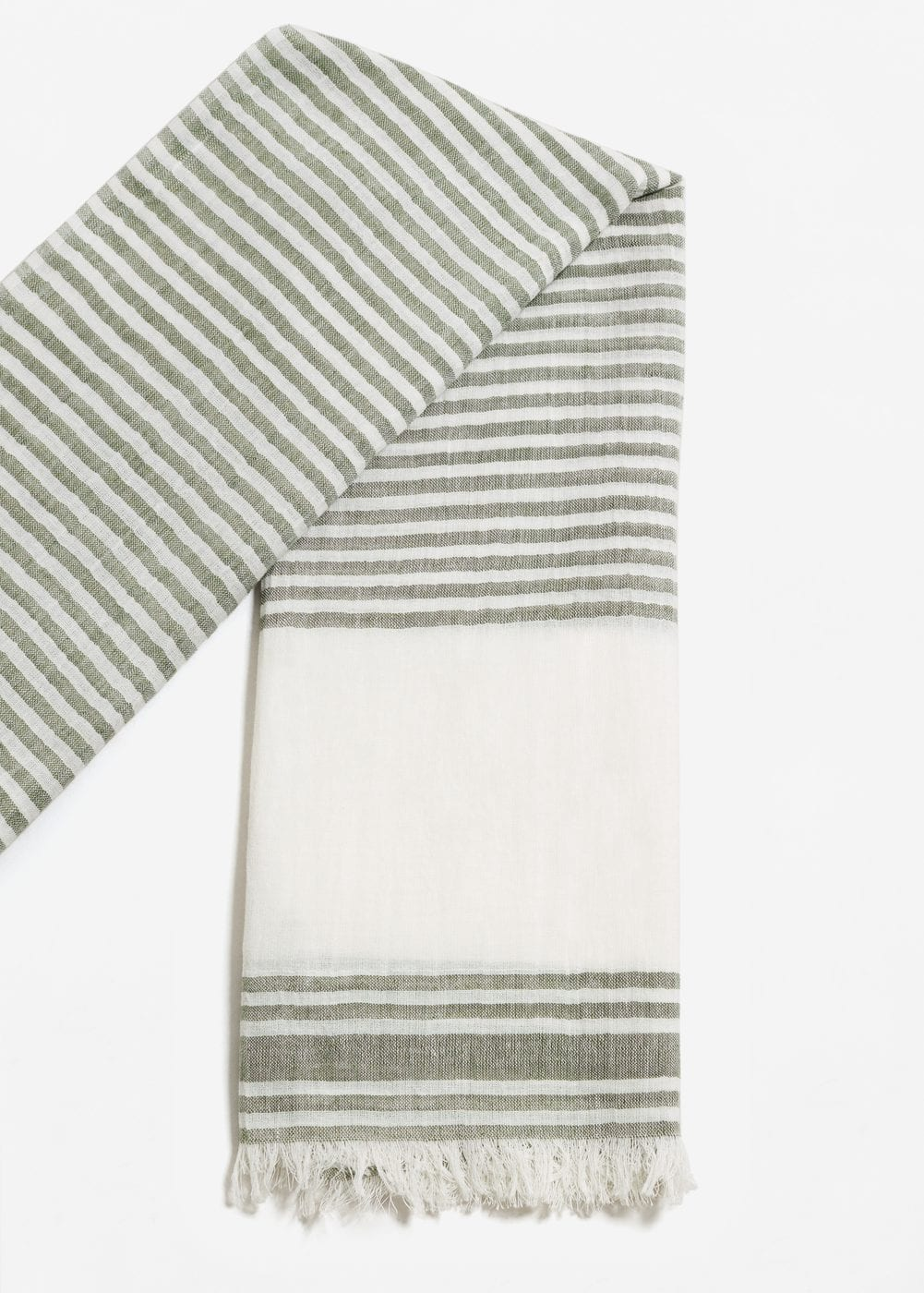 Striped cotton scarf | MANGO MAN