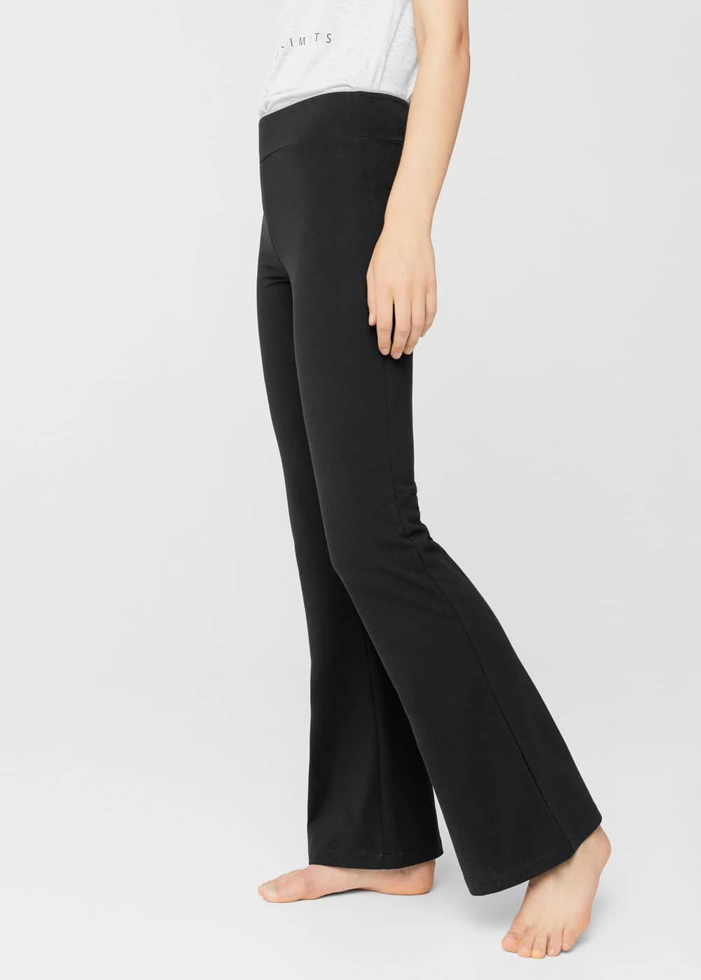 Flared cotton trousers | MANGO