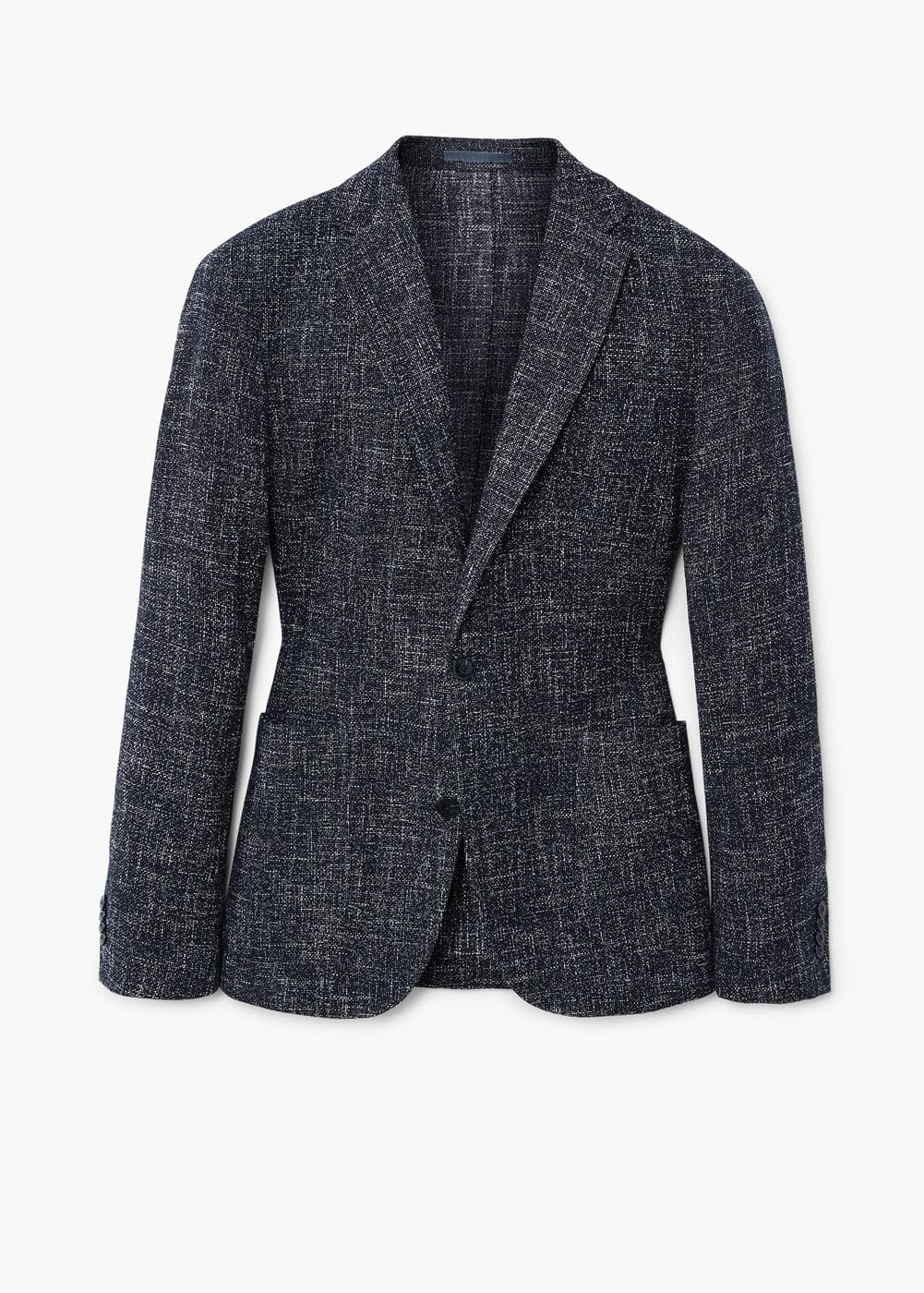 Slim fit flecked cotton blazer | MANGO