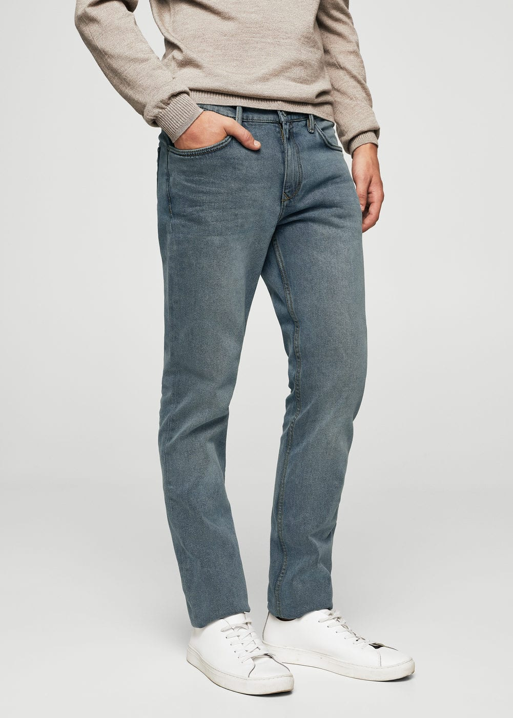 Slim-fit vintage wash tim jeans | MANGO MAN