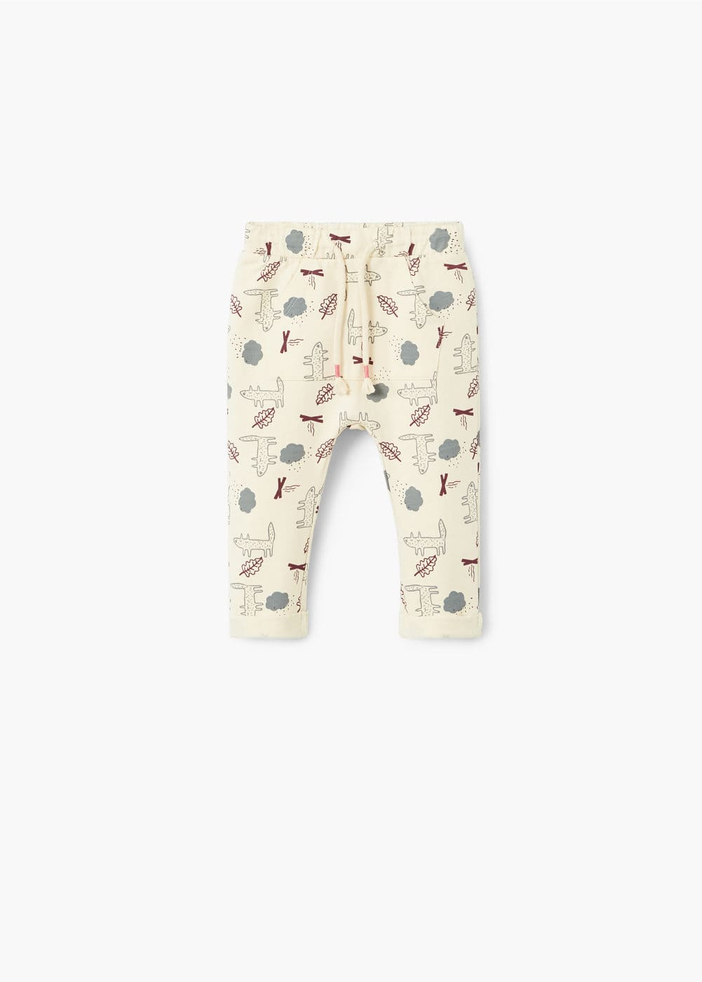 Printed cotton trousers | MANGO KIDS