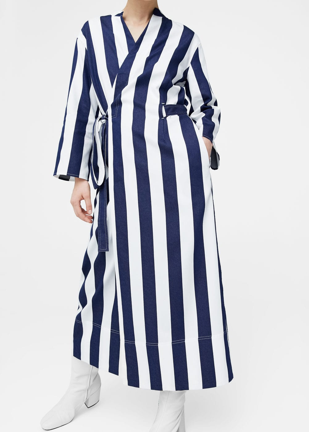 Striped belt trench | MANGO