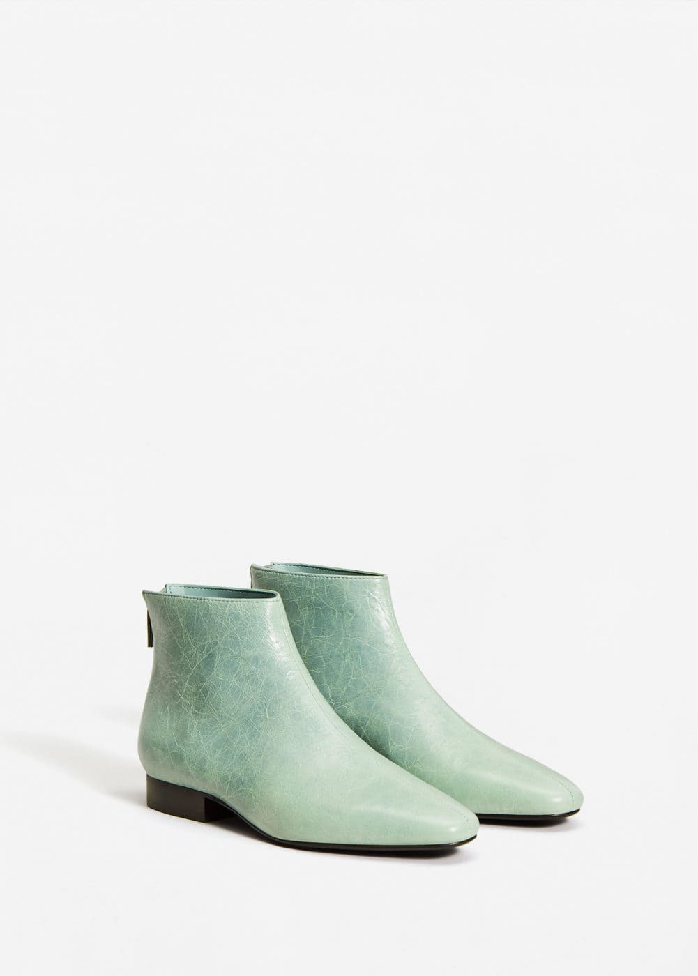 Bottines cuir zip | MANGO