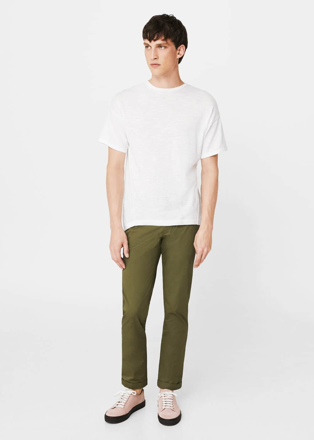 Knit cotton t-shirt | MANGO MAN