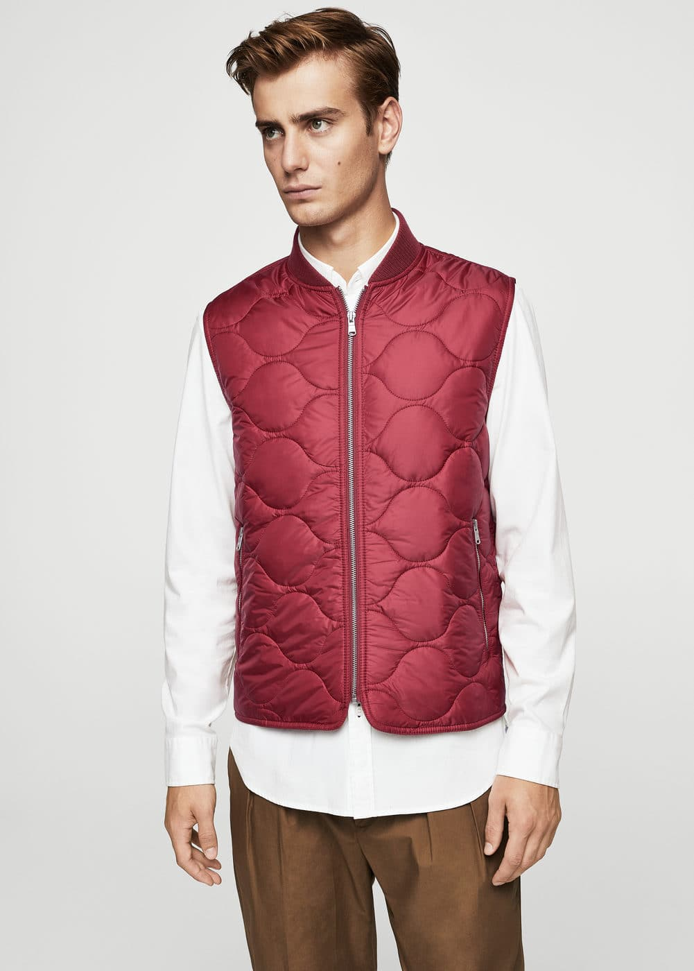 Quilted zippers gilet | MANGO MAN
