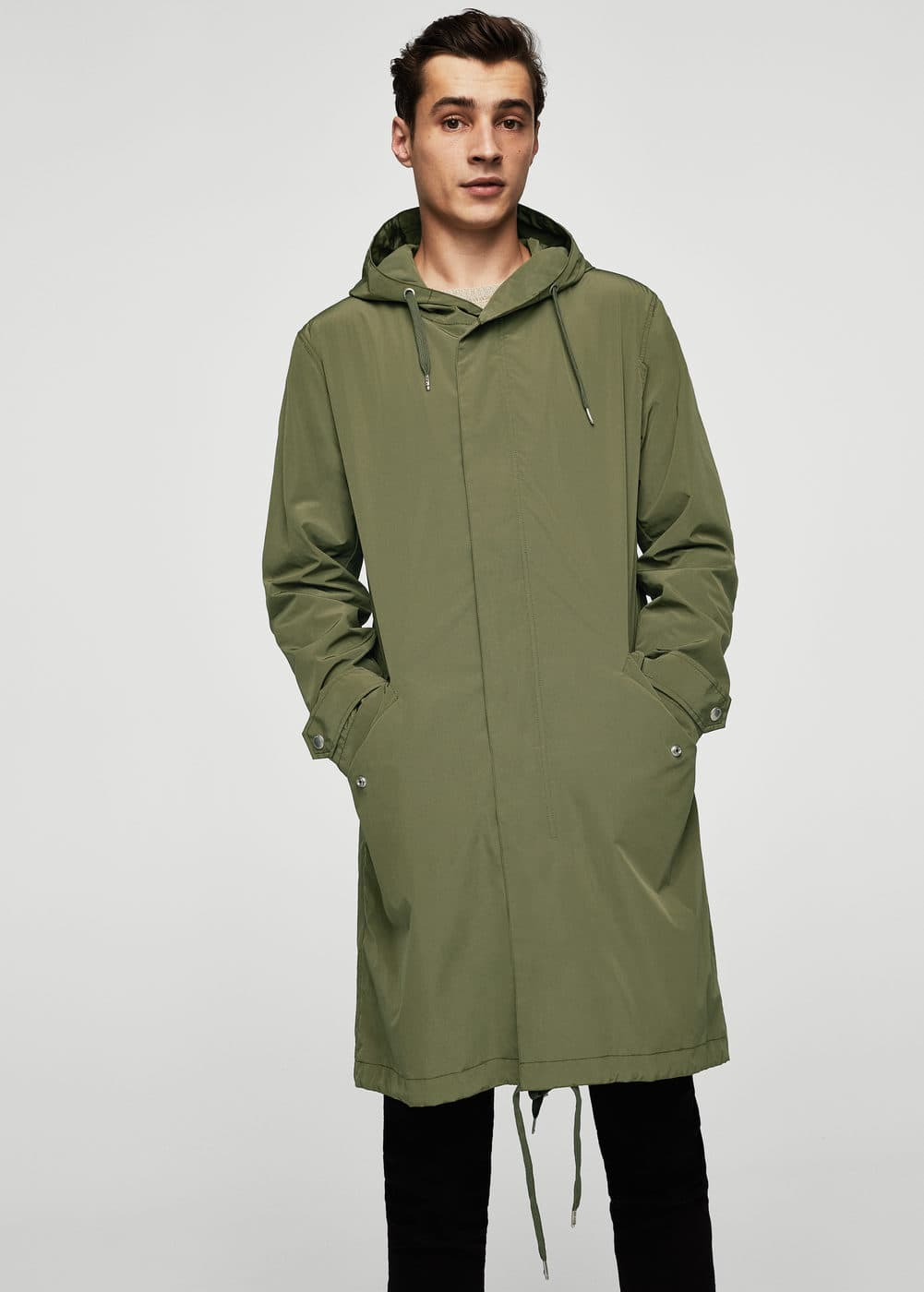 Water repellent parka | MANGO MAN