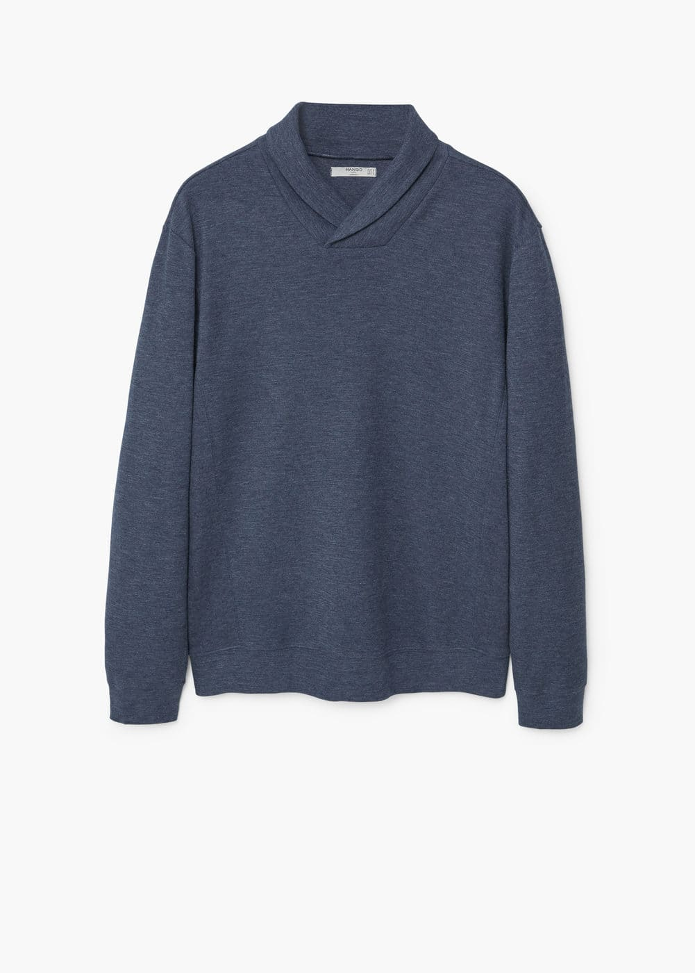 Flecked cotton-blend sweater | MANGO MAN