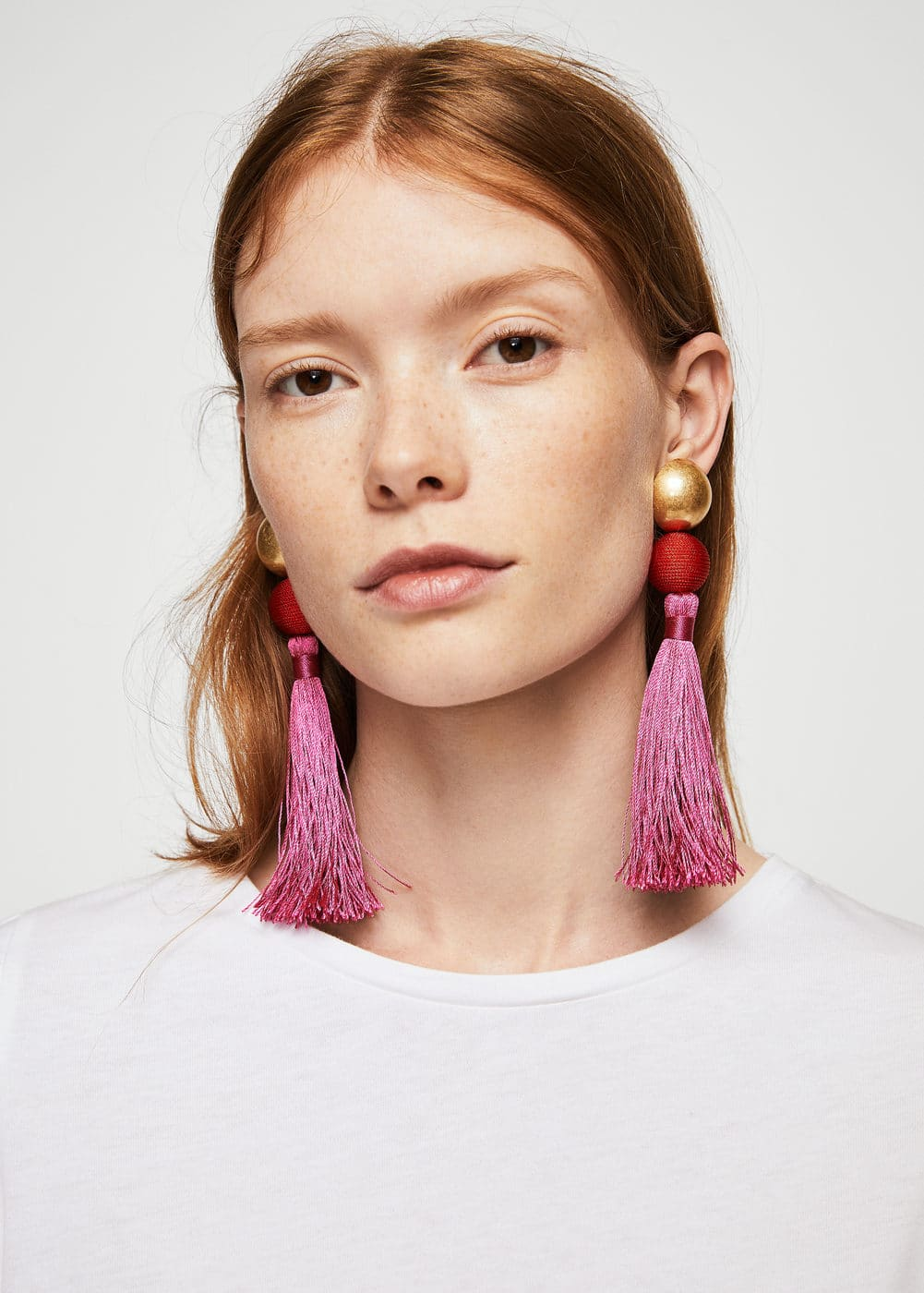 Tassel earrings | MANGO