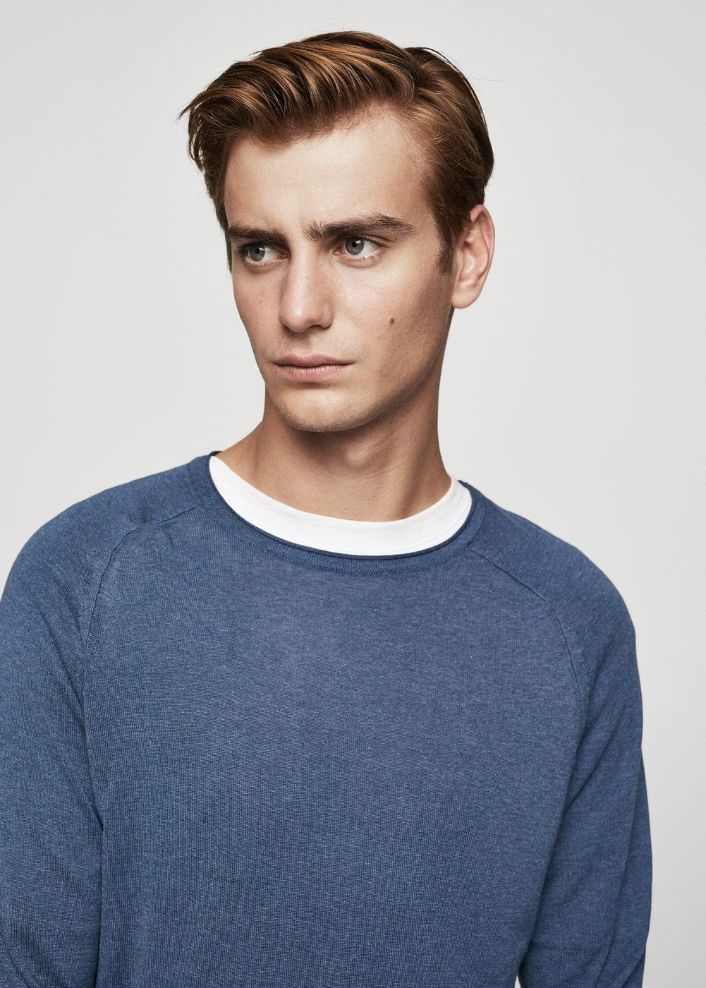 Textured fine-knit sweater | MANGO MAN