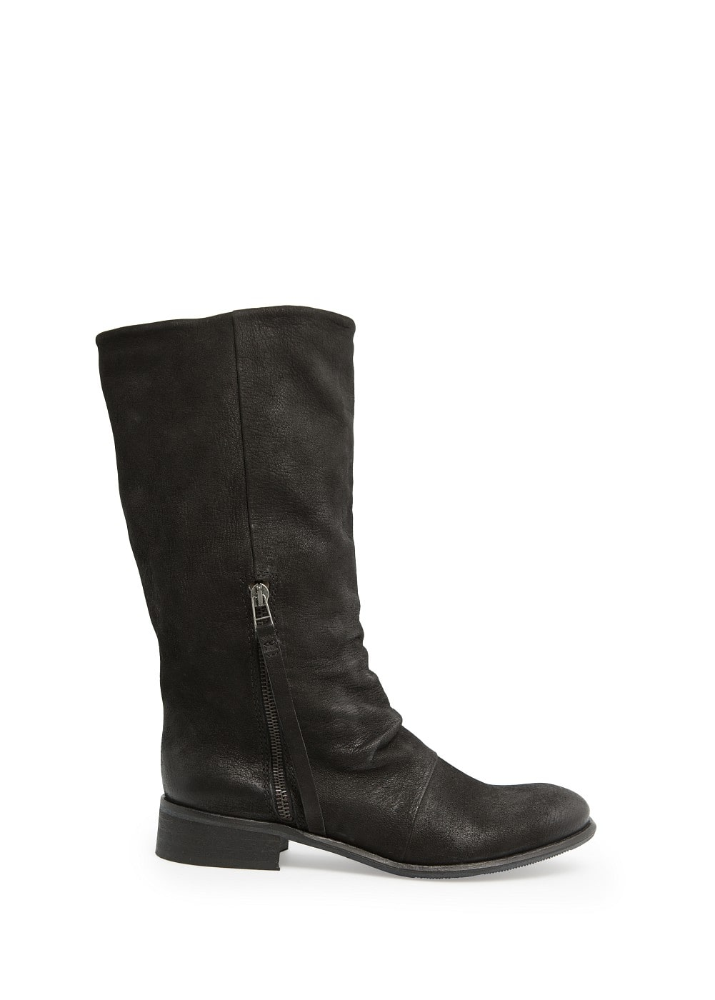 Coated leather boots | MANGO