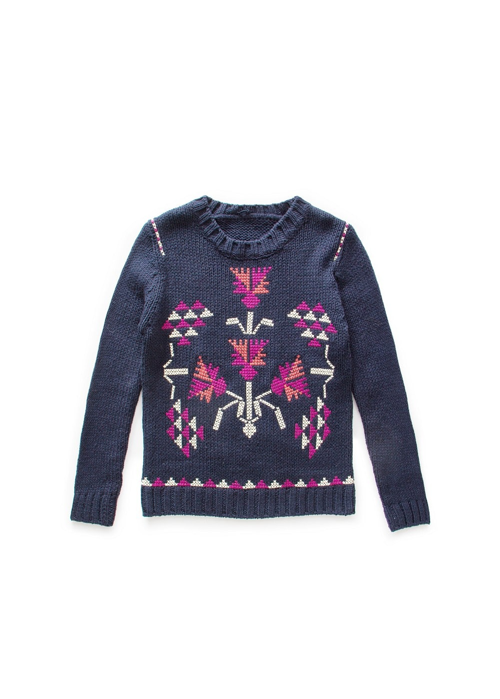 Cross-stitching embroidery sweater | MANGO KIDS