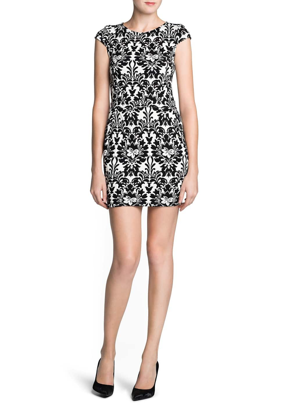 Jacquard bodycon dress | MANGO