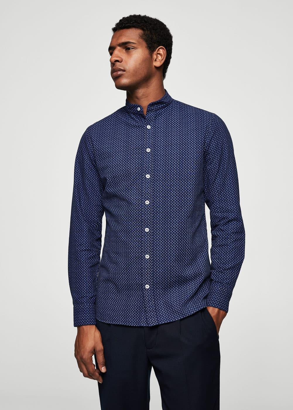 Camisa slim-fit micro estampado | MNG