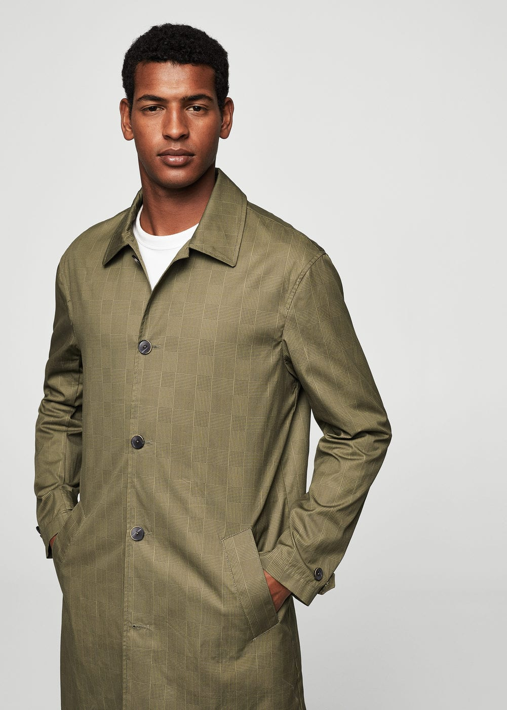 Prince of wales cotton trench | MANGO MAN