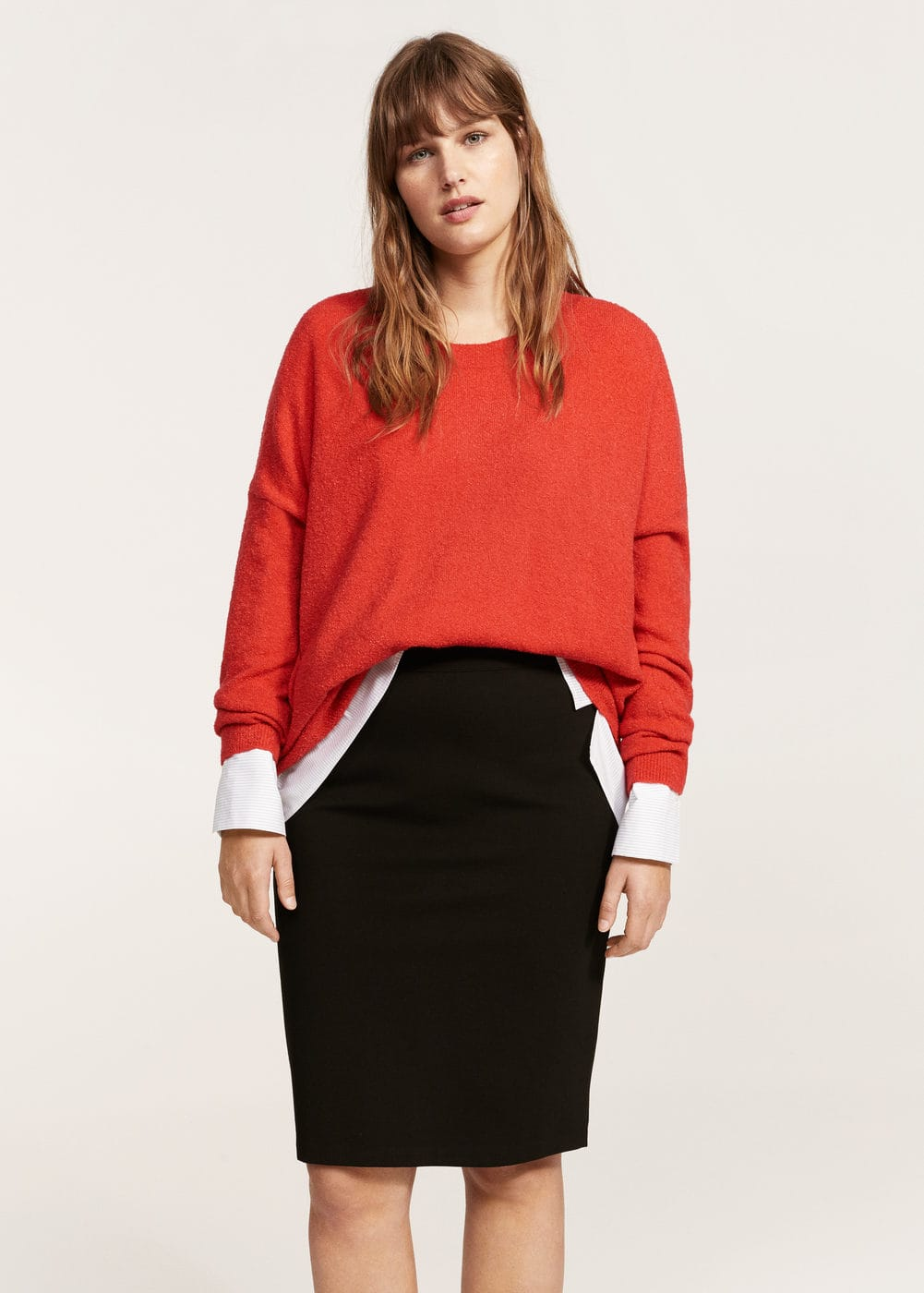 Slit hem skirt | VIOLETA BY MANGO