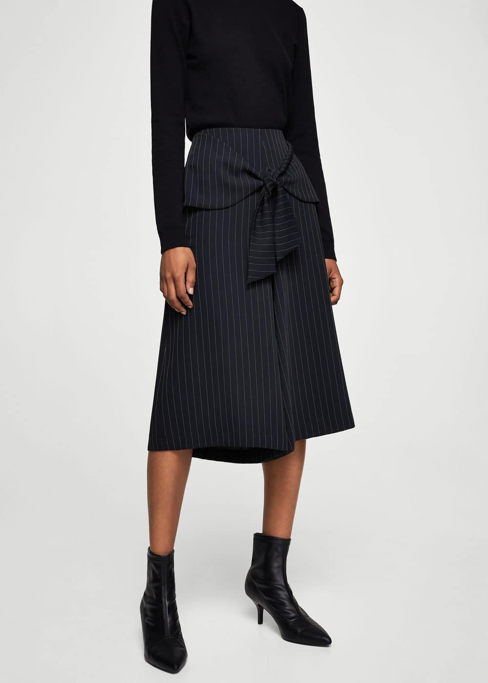 Knot culottes trousers | MANGO