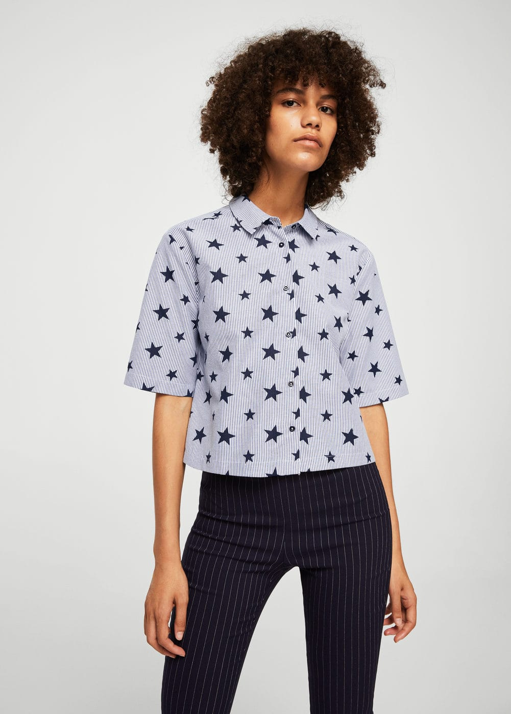 Stars striped shirt | MANGO