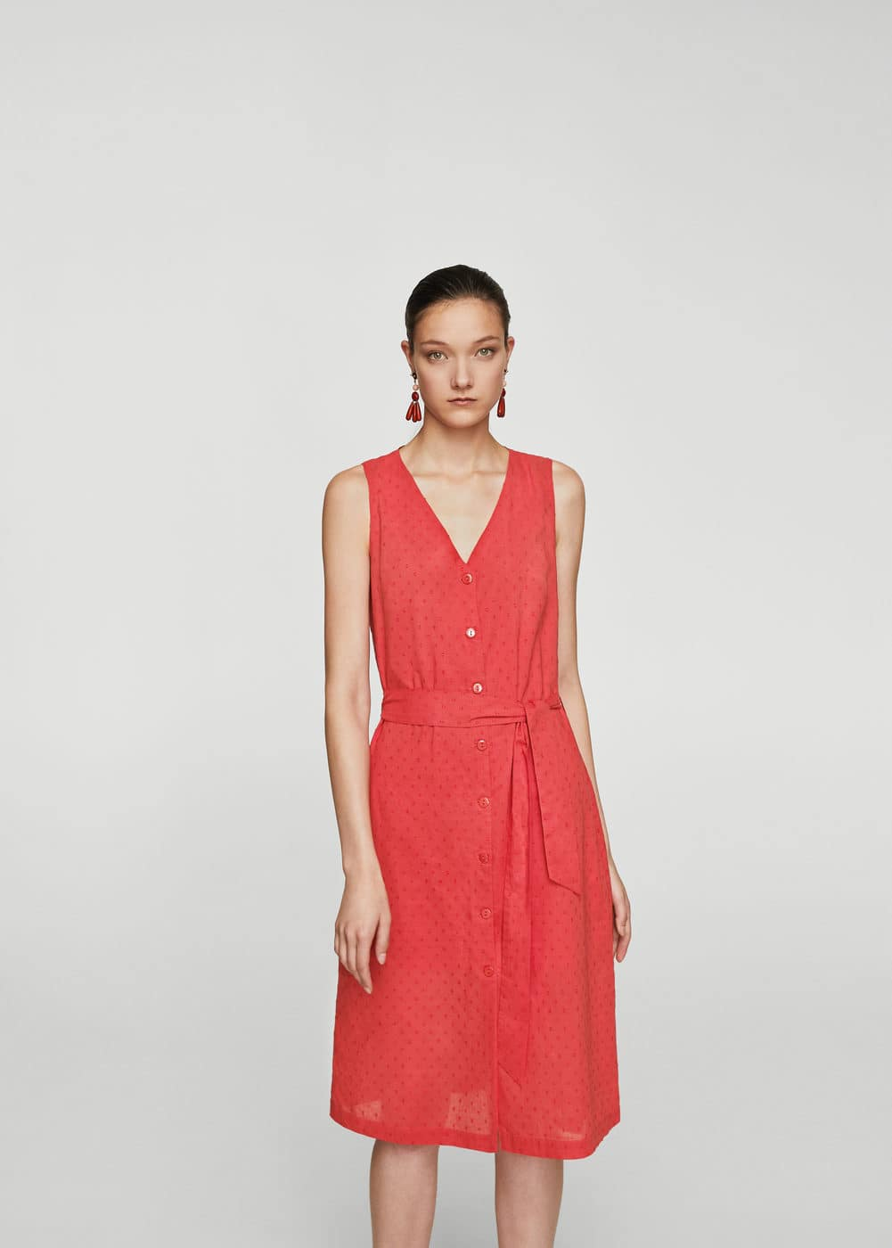 Bow plumeti dress | MANGO