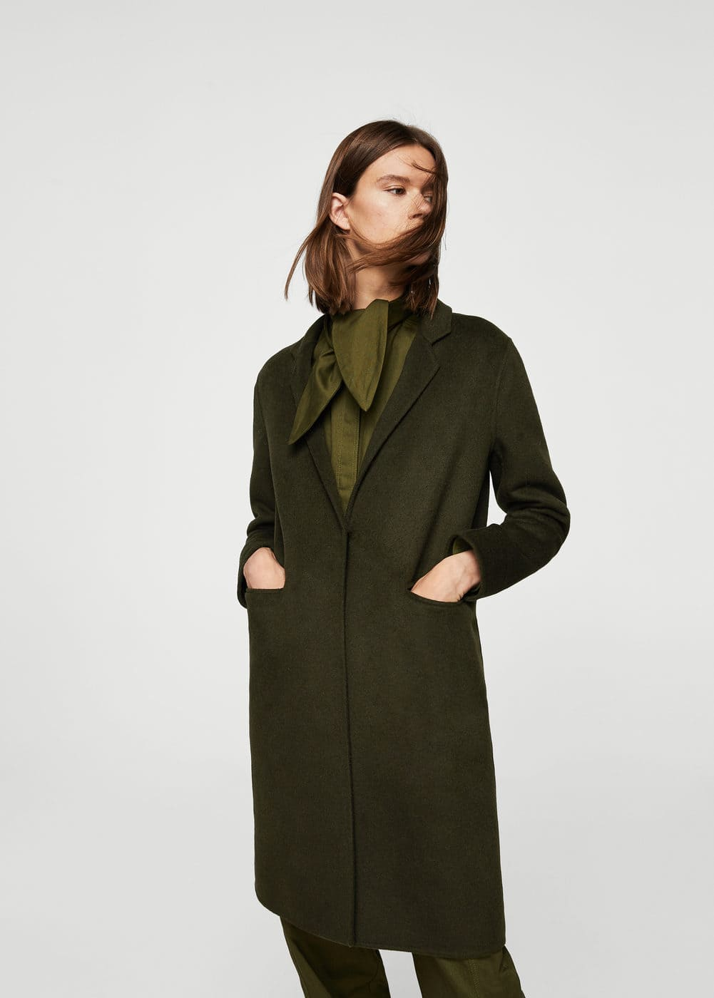 Wool handmade coat | MANGO