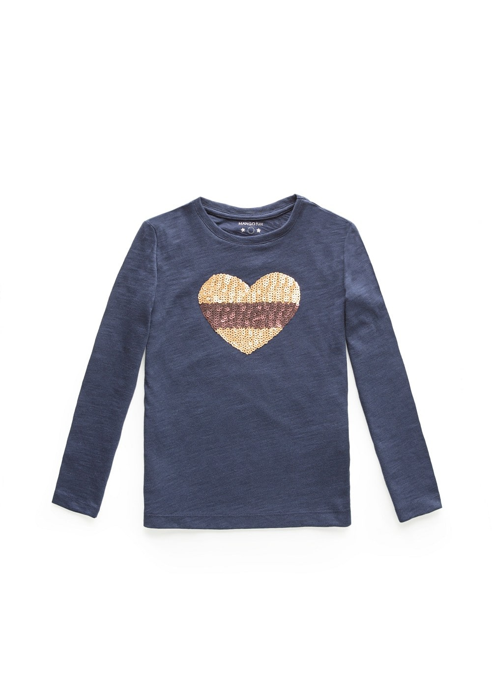 Sequined heart sweatshirt | MANGO KIDS