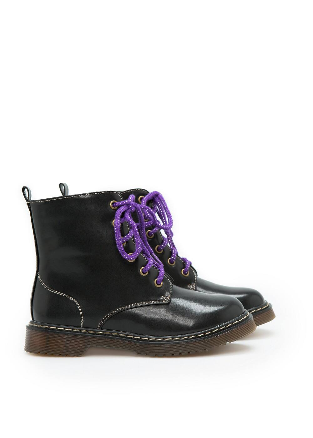 Contrast lace-up boots | MANGO KIDS