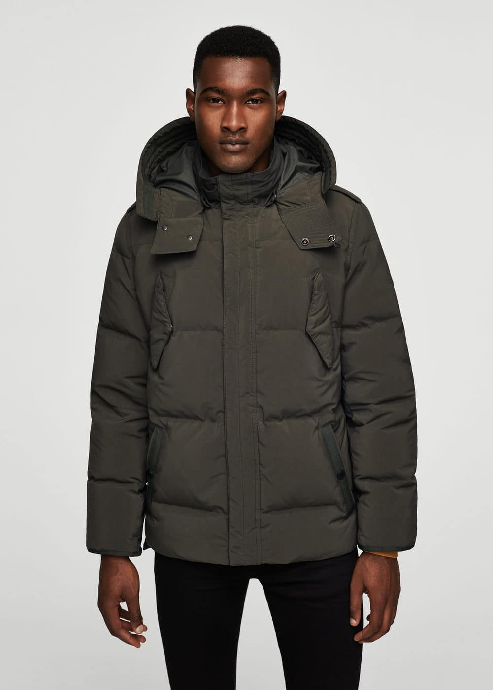 Quilted down anorak | MANGO